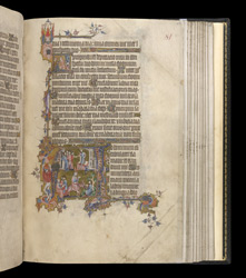 Historiated Initial To Psalm 119 With Scenes From The Life Of David, In The Egerton Bohun Psalter-Hours
